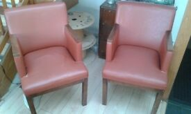 Vintage retro chairs / armchairs