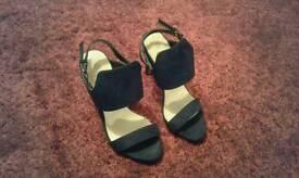 Black suede effect sandals Size 5