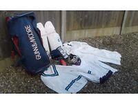 Various cricket equipment