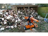 Mobile log splitting, firewood processing with operators