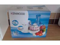KENWOOD food processor. chopping blending mixing slicing whisking etc.