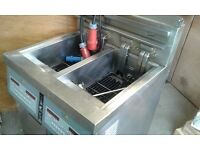 Henny Penny commercial twin basket deep fryer