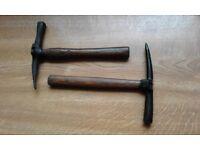 roofing hammers x 2 wooden handles