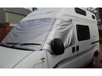 Taylormade external silver screen cover for Fiat/Boxer/Ducato campervan