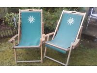 2 X Deck chairs