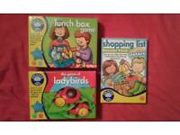 3 x orchard toys games, age 3+