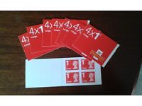 Book of 4 !st Class Large Stamps