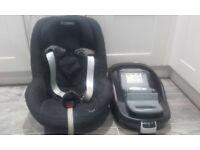 Maxi-cosi familfix isofix base and pearl car seat