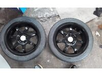 """Alloys 4x100 15"""" tyres are in good condition"""