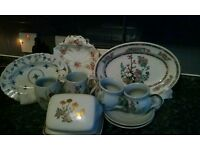 Assorted plates/stoneware