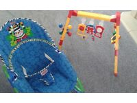 FISHER PRICE BABY ROCKER AND BABY PLAY GYM