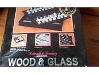 7 IN 1 ARBROATH & TURNBURY GAME SET, WOOD & GLASS LIMITED EDITION IN EXCELLENT CONDITION