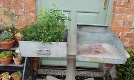 Galvanised Planters/trays