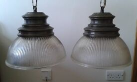 Pair of matching light fittings.
