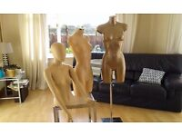 Mannequins1 on stand 2 without stands all vgc