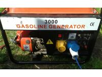 generator 3000 petrol good working order 110 240 and 12 volt all working
