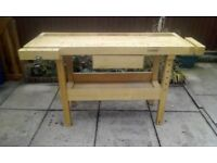White Gate work bench wiod condition a good sturdy bench