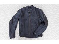 Weise Retro Style Leather Motorcycle / Motorbike Jacket