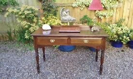 Victorian / Edwardian Mahogany Writing Table / Desk (chest,drawers,dressing,lamp, side,hall)
