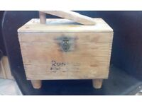 Ronson shoe shine box