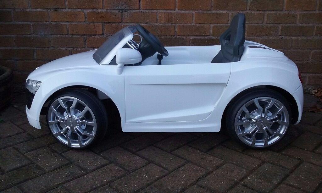 Ride On Car For Kids Audi R V In White In Chesterfield - Audi r8 6v car
