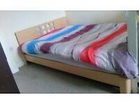 double bed frame vgc