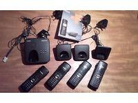 Exc. cond Siemens Gigaset quad cordless phone set inc answerphone, instructions