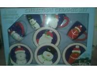 Christmas ceramic set