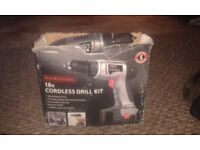 18 volt cordless battery drill with 2 batterys dont hold charge tho charger n lead no bits