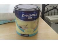 Johnstone's Lime Crush Soft Sheen Emulsion Paint, 2.5 litre tin, 2/3 left, free