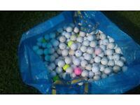 Almost 350 practice golf balls