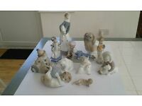 Lladro figurines (9 Lladro & 2 Neo) for just £200.00, a genuine bargain.