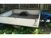 car trailer new towhitch good handbreak and tyers used until recently £50 07802625951