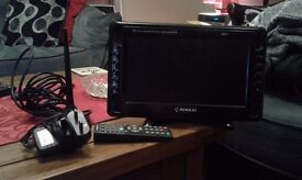 """Nikkai 10.2"""" Digital LCD TV Monitor Complete With Ariel"""