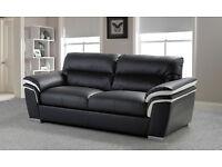 Brand New!! Italian style 3 seater leather sofa.