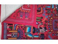 embroidered cushion covers & wall art from peru made by incas