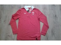 WRU Rugby shirt XS mens RRP £44.99, brand new with tags.