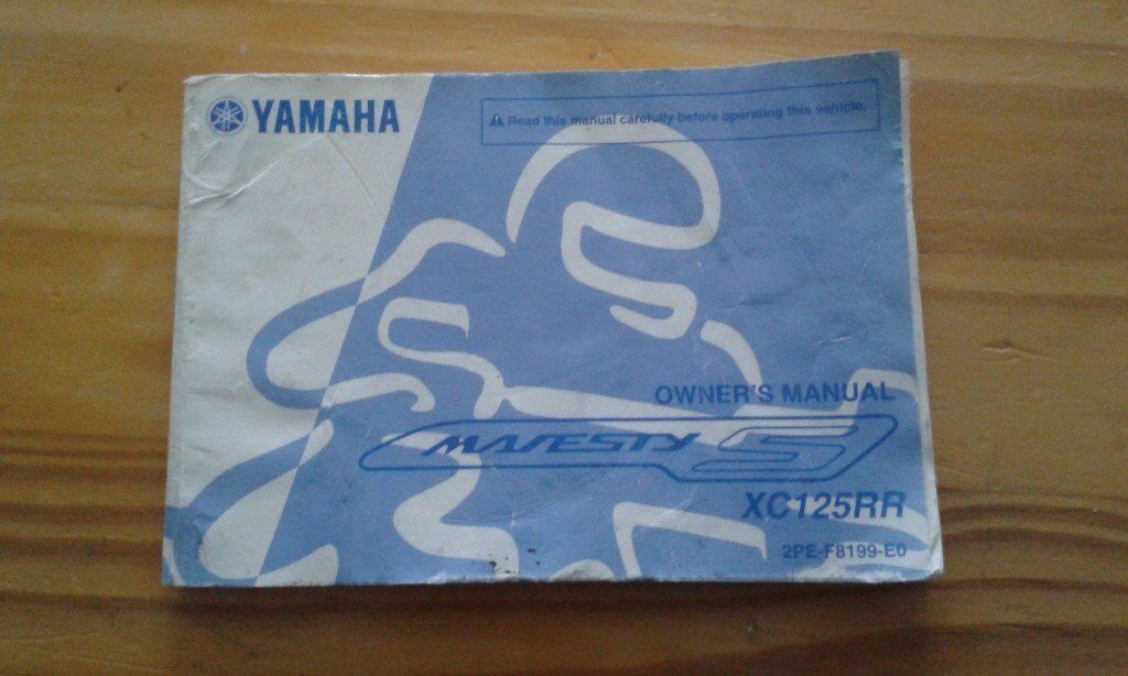 yahama majesty owners manual