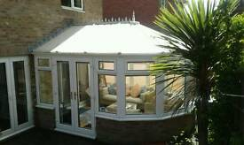 White UPVC Victorian Style Conservatory