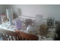 various lamp shades and lamps one lot