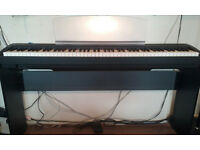 Yamaha P85 in Black with original piano stand
