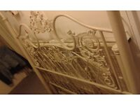 Metal Double bed frame very solid and decorative frame only