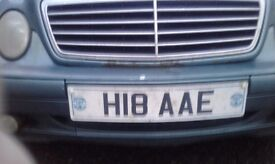 Private reg h18 aae for sale