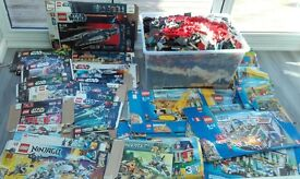 40KGS PLUS OF LEGO SPARES FOR LEGO CITY, STAR WARS AND INDIANA JONES. THERE IS NO MINI FIGURES