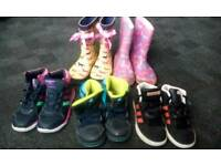 Bundle of trainers size junior 12