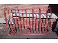 Pair of heavy garden gates, 5ft x 3ft each