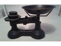 vintage antique cast iron kitchen scales