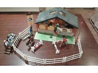 Playmobil Horse stable and riding school