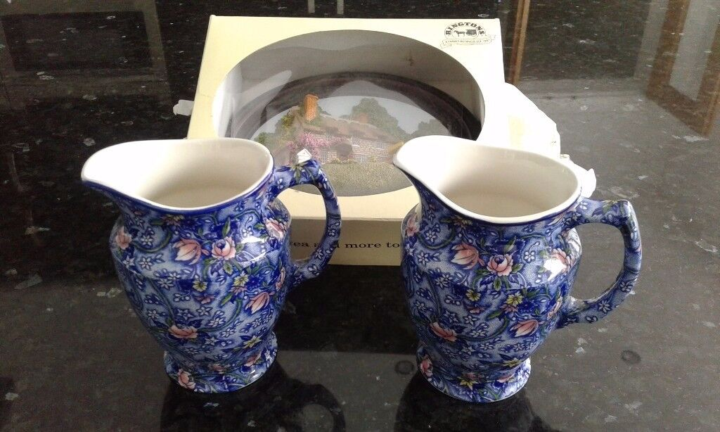 Ringtons Tea Company Decorative Jugs and 3d pottery picture.