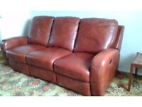 BARKER AND STONEHOUSE LEATHER 3 PIECE SUITE .IMMACULATE CONDITION.